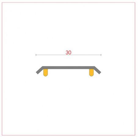 Junta 30 mm mismo nivel plana autoadhesiva ref 008